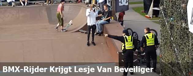 BMX-Rijder Krijgt Lesje Van Beveiliger