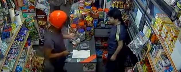 Overvaller wordt even op zijn plaats gezet door winkelier