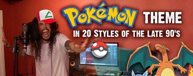 Pokémon Theme in 20 verschillende muziekstijlen uit de jaren 90