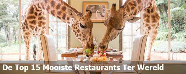 Top 15 Restaurants Waar je 1 keer in je leven gegeten moet hebben