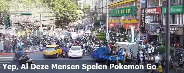Yep, Al Deze Mensen Spelen Pokemon Go