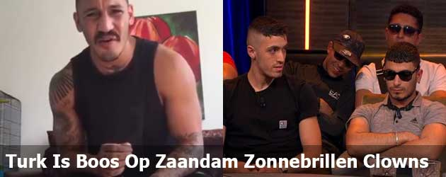 Turkse meneer is boos op de Zaandam Zonnebrillen Clowns