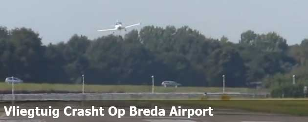 Vliegtuig Crasht Op Breda Airport