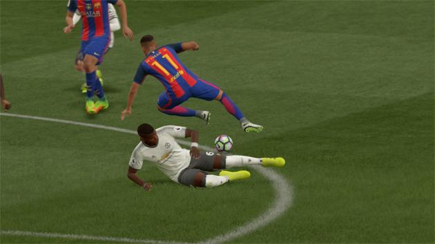 FIFA 17 Aftrap 0-0 MUN - BAR, 1e helft