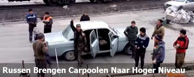 De Russen brengen carpoolen naar een hoger niveau