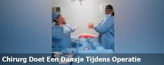Bizarre video laat dansende chirurg zien tijdens een operatie