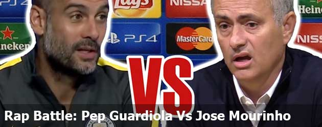 Rap Battle Pep Guardiola Jose Mourinho video filmpje