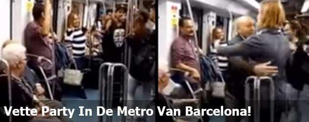 Vette Party In De Metro Van Barcelona!