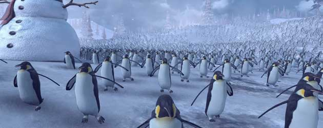 Epic Battle! 11,000 Pinguïns VS Het Santa Claus Army
