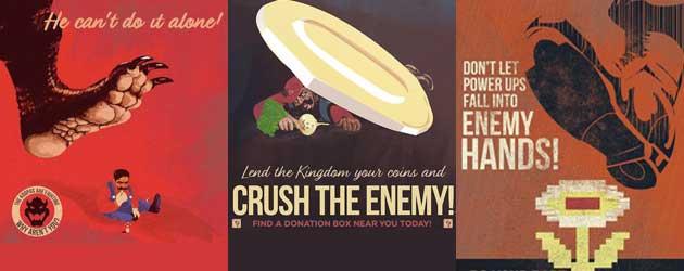 Schitterende Anti Mario Propaganda Kunst