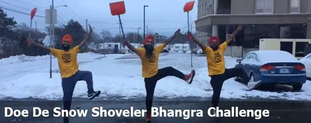 Doe de Snow Shoveler Bhangra Challenge