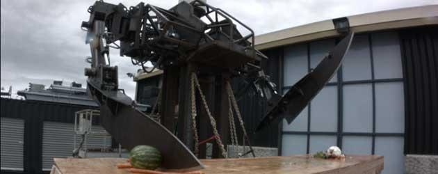 Groenten Snijden Met Een Mega Grote Robot