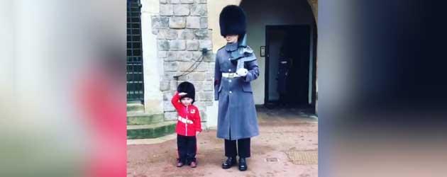 Mini Paleiswacht Haalt Paleiswacht Uit Zijn Rol