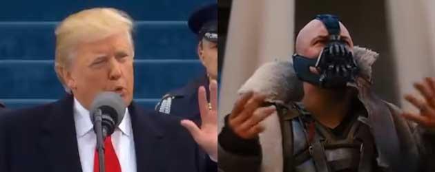 Pikte Trump zijn inauguratie speech Van Batman's Bane?