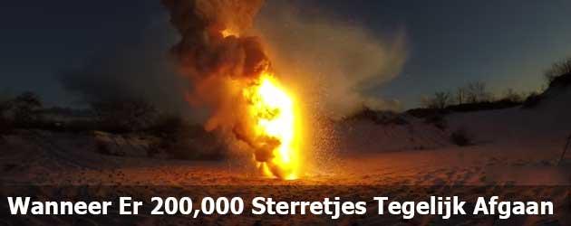 Wanneer Er 200,000 Sterretjes Tegelijk Afgaan