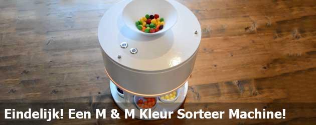 Eindelijk! Een M & M Kleur Sorteer Machine!