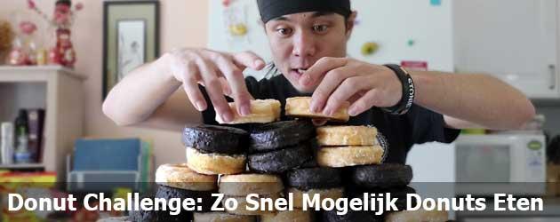 Donut Challenge: Zo Snel Mogelijk Donuts Eten