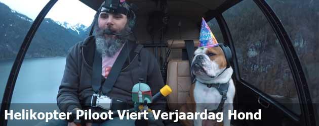 Helikopter Piloot Viert Verjaardag Hond