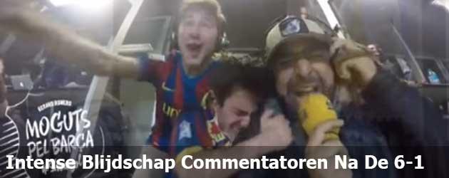 De Intense Blijdschap Van deze radiocommentatoren tijdens Barcelona-PSG