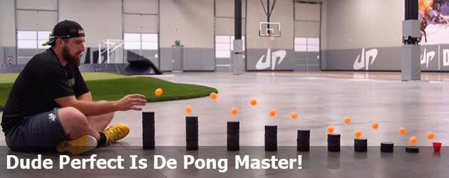 Dude Perfect Is De Pong Master!