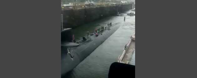 Er komt Even Een Nucleaire Duikboot door het Panama Kanaal