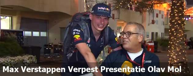 Max Verstappen Verpest Presentatietekst Olav Mol
