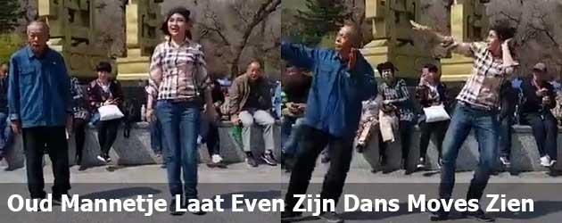 Oud Chinees Mannetje Laat Even Zijn Dans Moves Zien