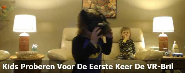 Kids Proberen Voor De Eerste Keer De VR-Bril