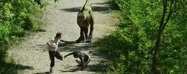 Wanneer je tijdens het hardlopen een dinosaurus tegenkomt