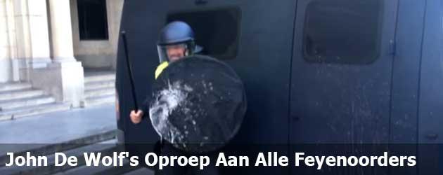 John De Wolf heeft een boodschap voor alle Feyenoord-supporters