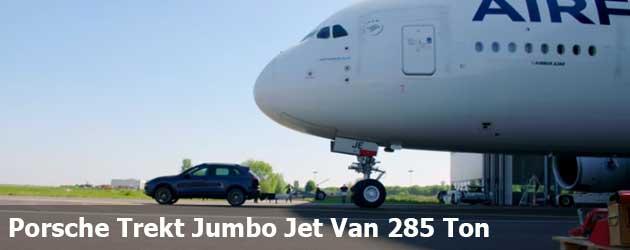 Porsche Trekt Jumbo Jet Van 285 Ton