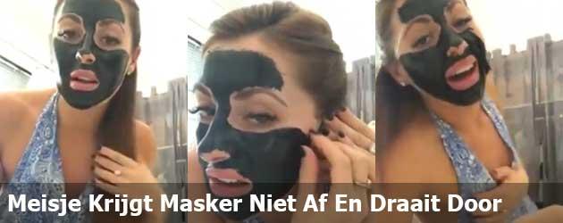 Meisje Krijgt Masker Niet Af En Draait Door