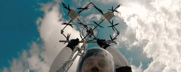 Nieuw! Drone Parachute Springen!