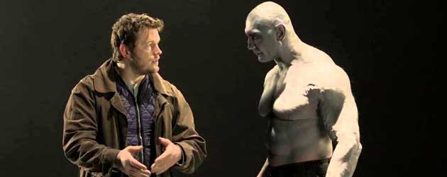 Screentest Chris Pratt en Dave Bautista voor Guardians of the Galaxy