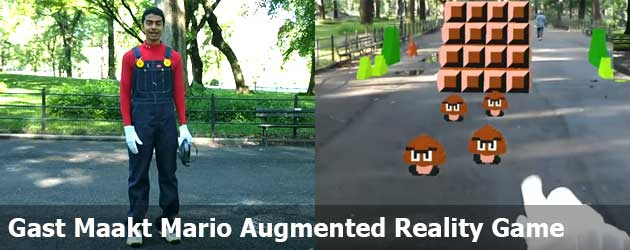 Gast Maakt Reallife Super Mario Augmented Reality Game