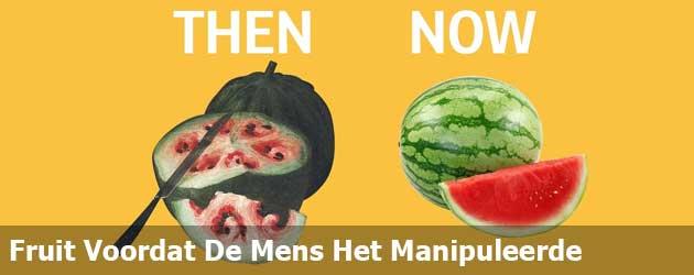 Hoe fruit en groente er uitzag voordat de mens ze manipuleerde