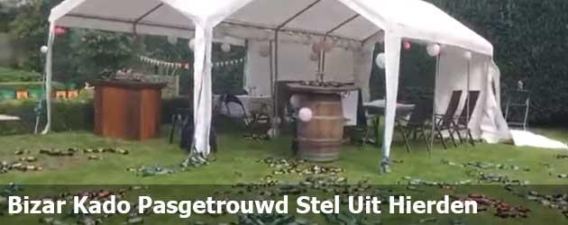 Pasgetrouwd stel uit Hierden krijgt een heel bijzonder cadeau voor in de tuin