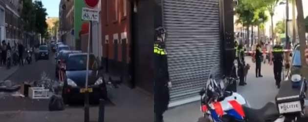 Rotterdamse vrouw gaat helemaal los en gooit al zijn spullen op straat