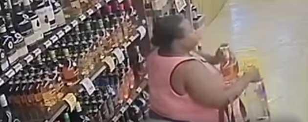 Ongelooflijk! Vrouw Steelt 18 Flessen Drank