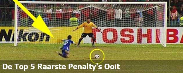 De Top 5 Raarste Penalty's Ooit