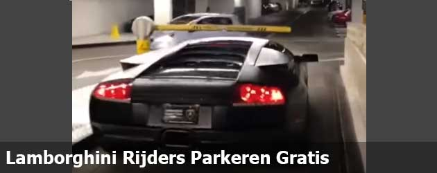 Lamborghini Rijders Parkeren Gratis