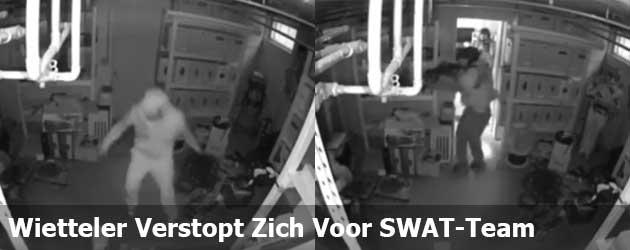 Must see filmpje van de dag: Wietteler verstopt zich succesvol voor SWAT-team