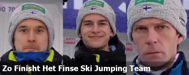 Zo Finisht Het Finse Ski Jumping Team