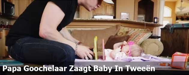Papa Goochelaar Zaagt Baby In Tweeën