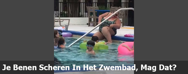 Je Benen Scheren In Het Zwembad, Mag Dat?