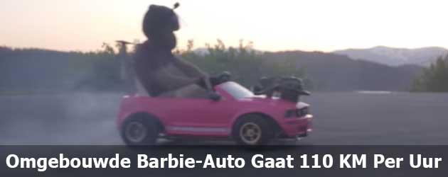 Omgebouwde Barbie-Auto Gaat 110 KM Per Uur