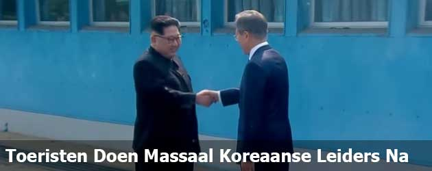 Toeristen Doen Massaal Koreaanse Leiders Na