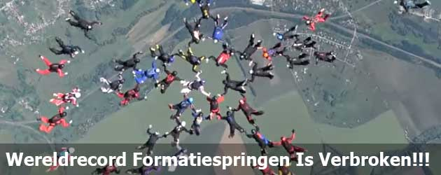 Wereldrecord Formatiespringen Is Verbroken!!!